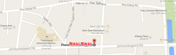แผนที่ร้าน Rikki Rikki Sushi & Grill (กดที่ภาพเพื่อดูใน Google Maps)