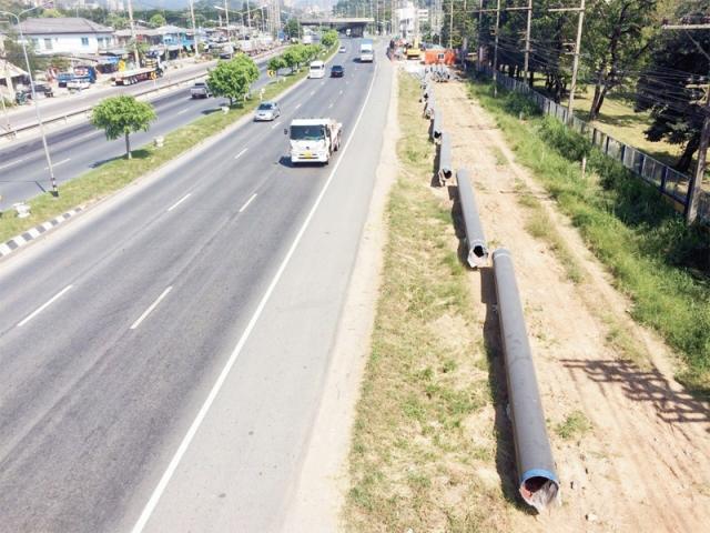 โครงการวางท่อก๊าซธรรมชาติ ตามแนวถนนมิตรภาพ (ภาพประชาชาติ)