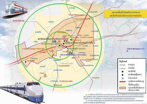 แผนขนส่งในเมืองนครราชสีมา ที่เชื่อมต่อโครงการในอนาคต ทั้งรถไฟความเร็วสูง และมอเตอร์เวย์