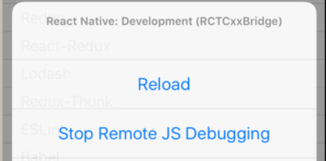 remove react native debugging