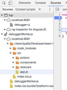 react native chrome debug
