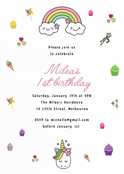 2nd Birthday Invitations Designs By Creatives Printed By Paperlust