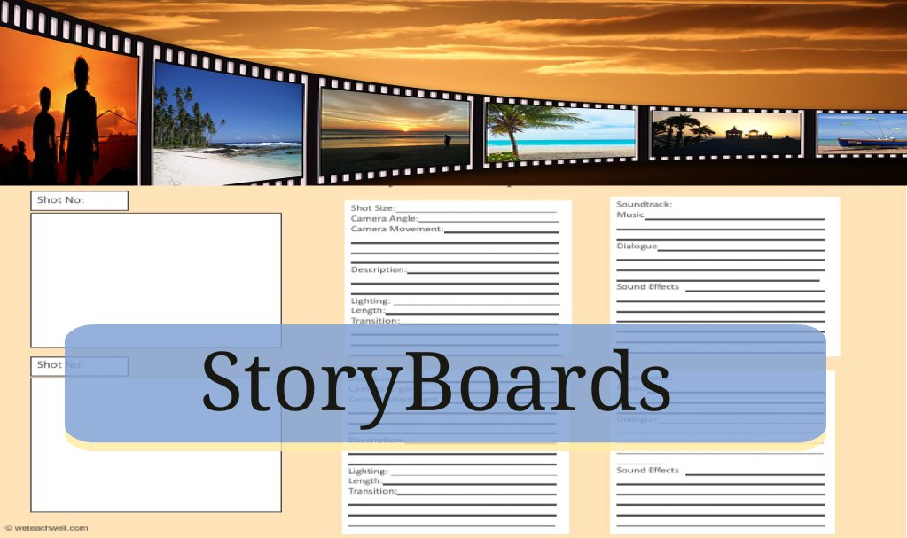Storyboards for film