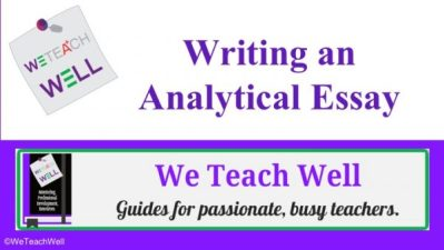 Writing analytically.