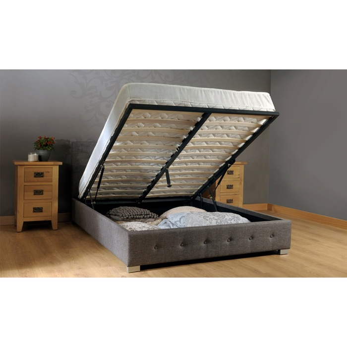 Westminster Queen Size Fabric Storage Gas Lift Bed Frame