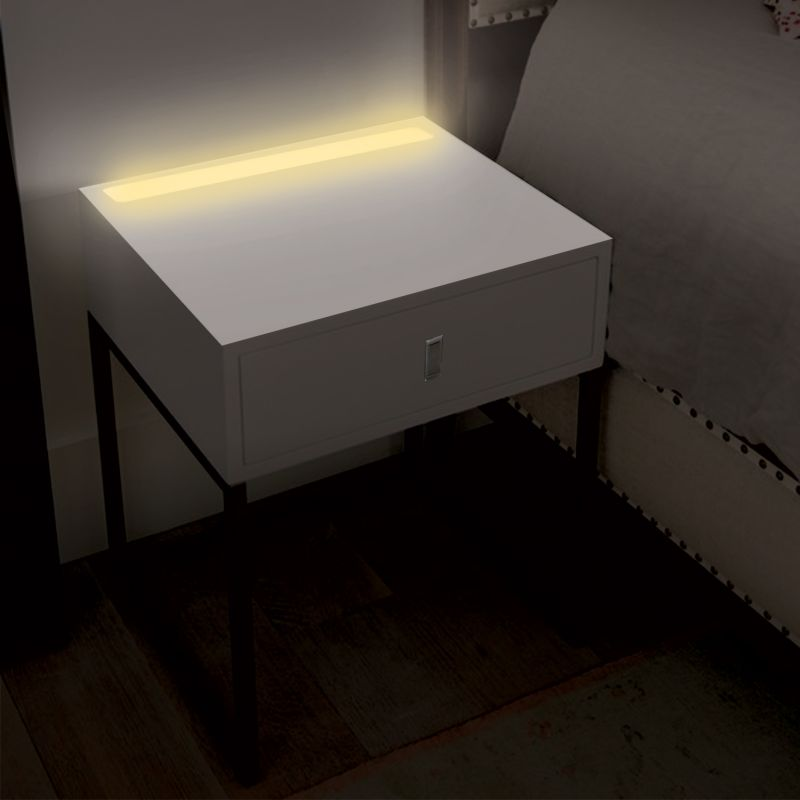 Illuminate Bedside Table With LED Light In White Buy