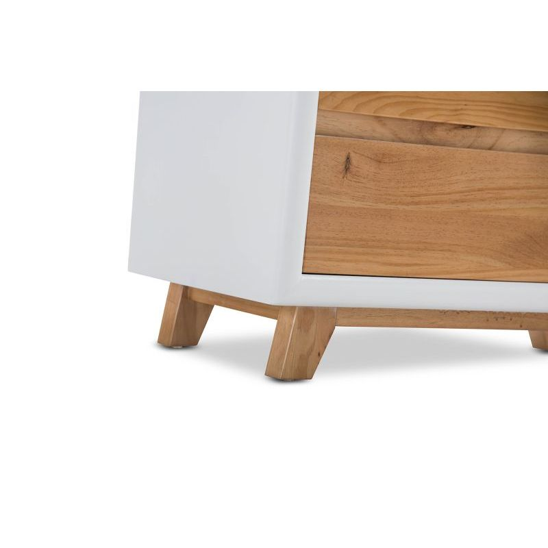 Arielle Timber 4 Drawer Tallboy Chest White Natural Buy