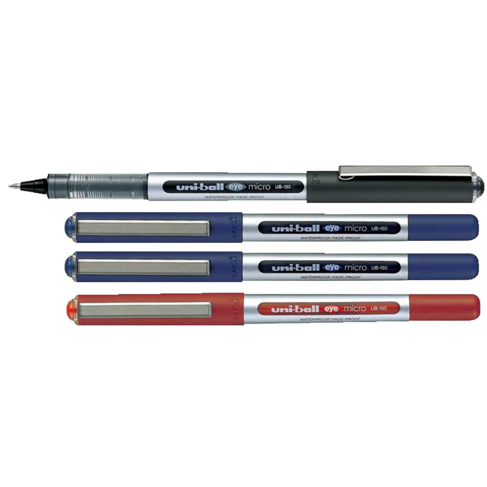 Uni Ball Eye Micro Rollerball Pens Assorted 4 Pack