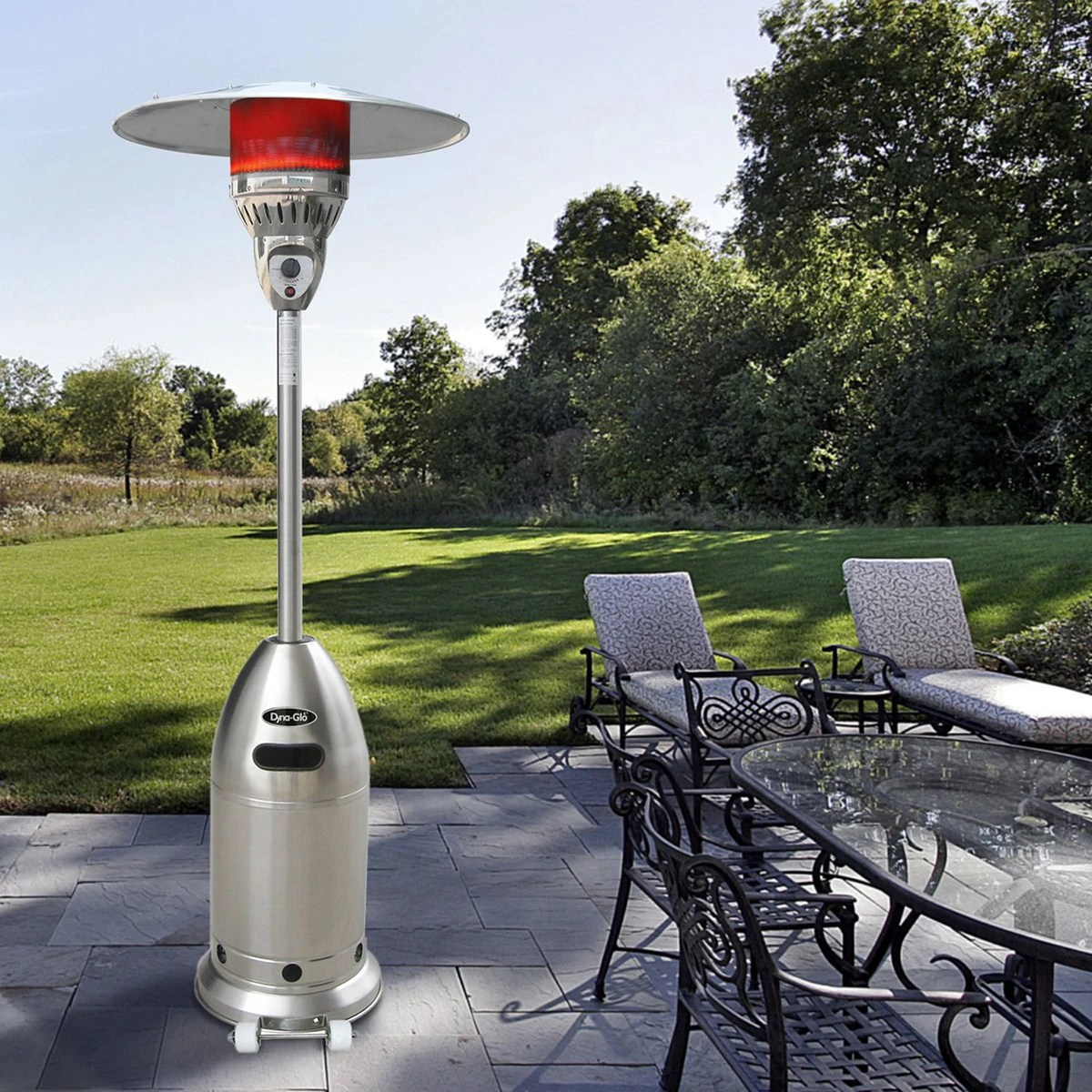 dyna glo 48 000 btu premium stainless steel patio heater