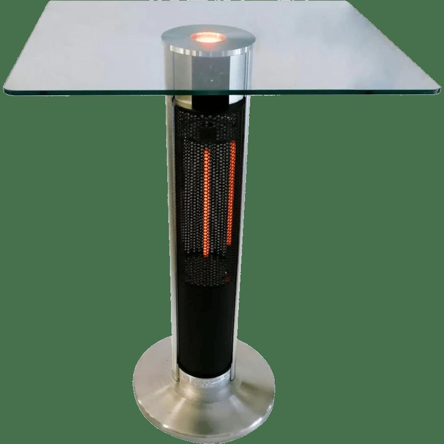 ener g 1500 watt electric patio heater w glass top table