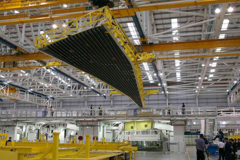 Airbus starts making the wings for first A350 XWB