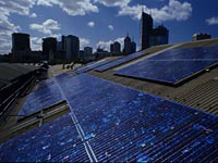 "Queen Victoria Markets Solar Energy. Photo: © City of Melbourne ""Zero net emissions by 2020 - Update 2008"""