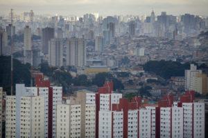 View of the crowded Sao Paulo cityscape. PHOTO CREDIT: ©Scott Warren