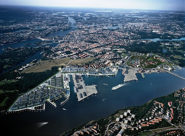 Stockholm Royal Seaport A rendering of the vision for the Stockholm Royal Seaport in 2030.