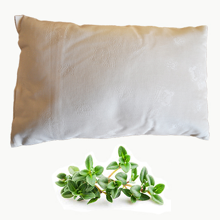 buckwheat husk pillow with thyme