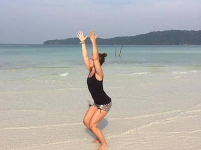 stoelhouding yoga utkatasana