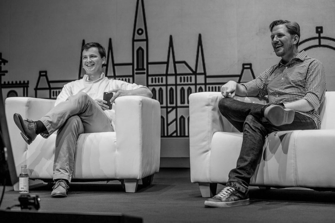 Foto aus der Q&A-Session mit Matt Mullenweg beim WordCamp Europe 2016 in Wien. Foto: Florian Ziegler/Flickr