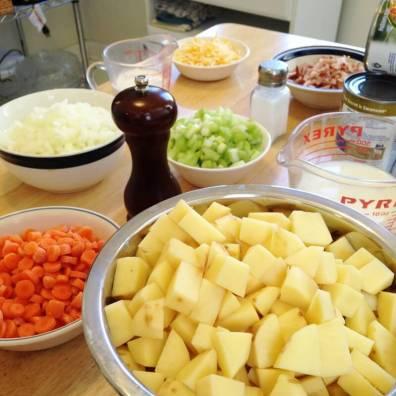 Pioneer Woman Potato Soup - my go to recipe