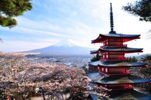 قمة جبل فوجي باليابان