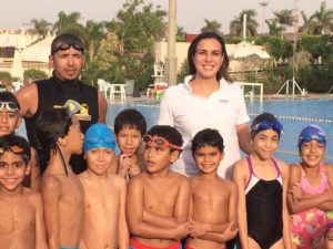 سباحة مصر الأولى مع ناشئي السباحة بأكاديميتها الخاصة