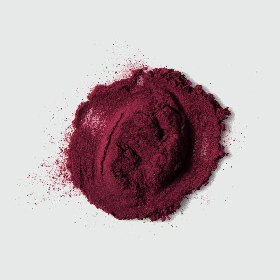 dark powder on a white table