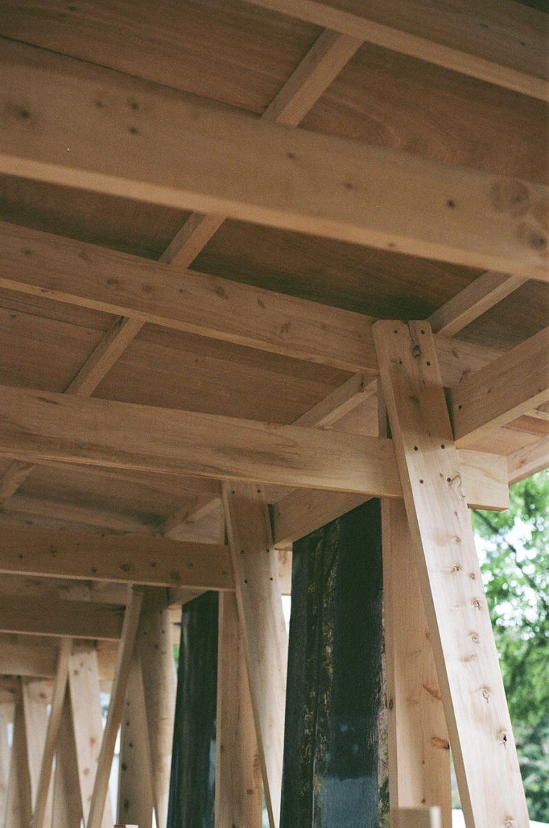 wood pavilion, building detail