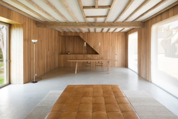 interior by john pawson, wood partitions