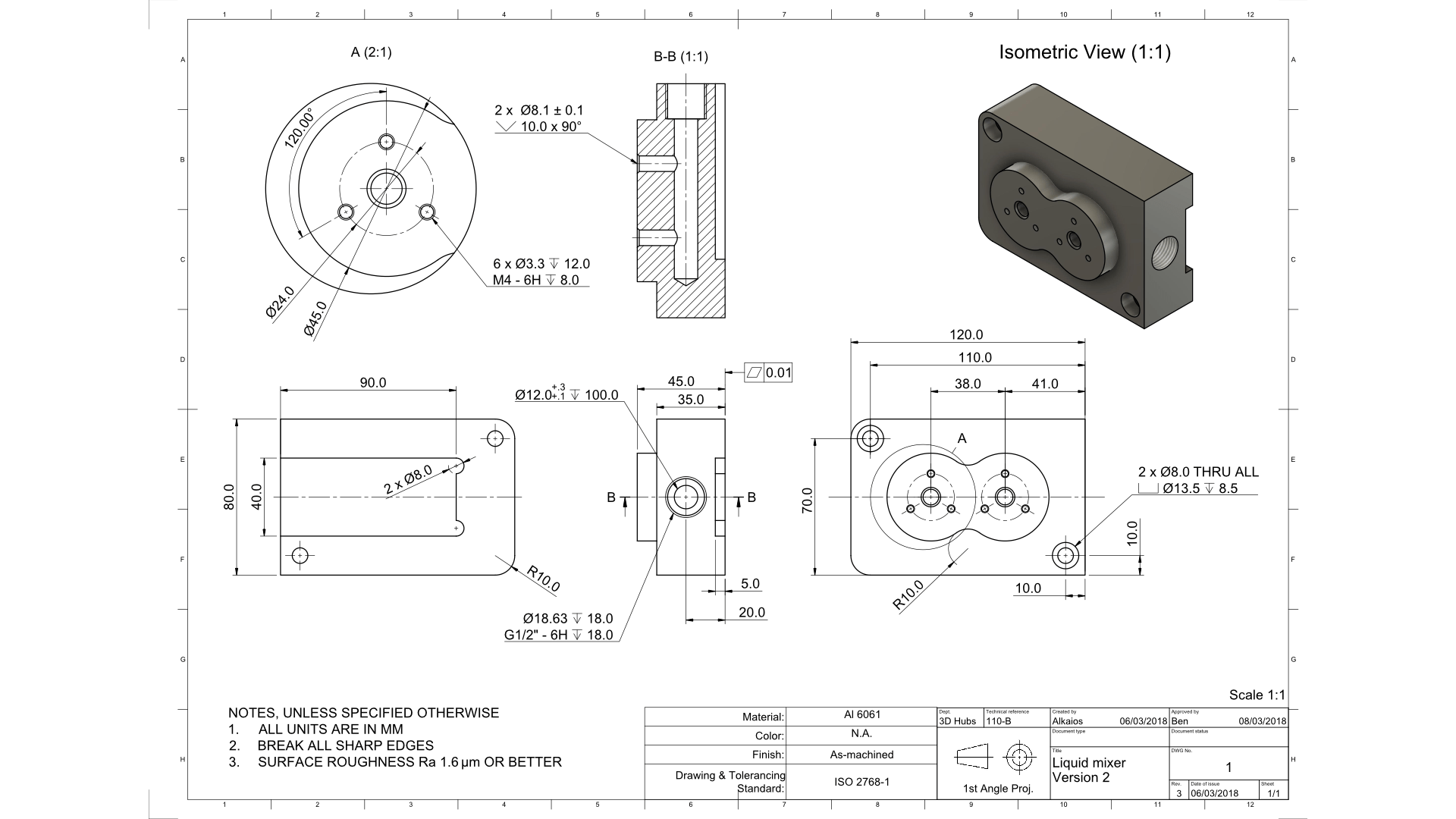How To Prepare A Technical Drawing For Cnc Machining