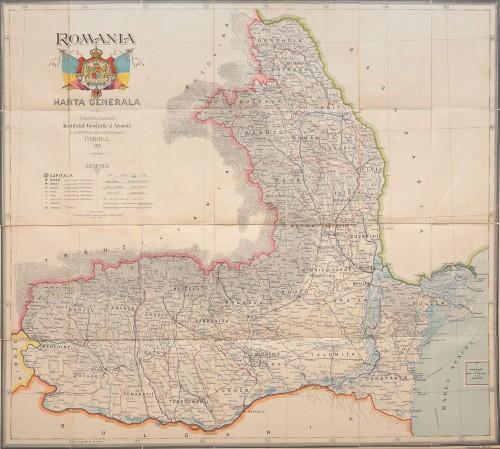 Harta generală a României, 1900