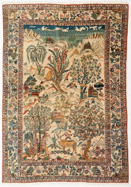 tapis kashan iran 2eme tiers du xxe s