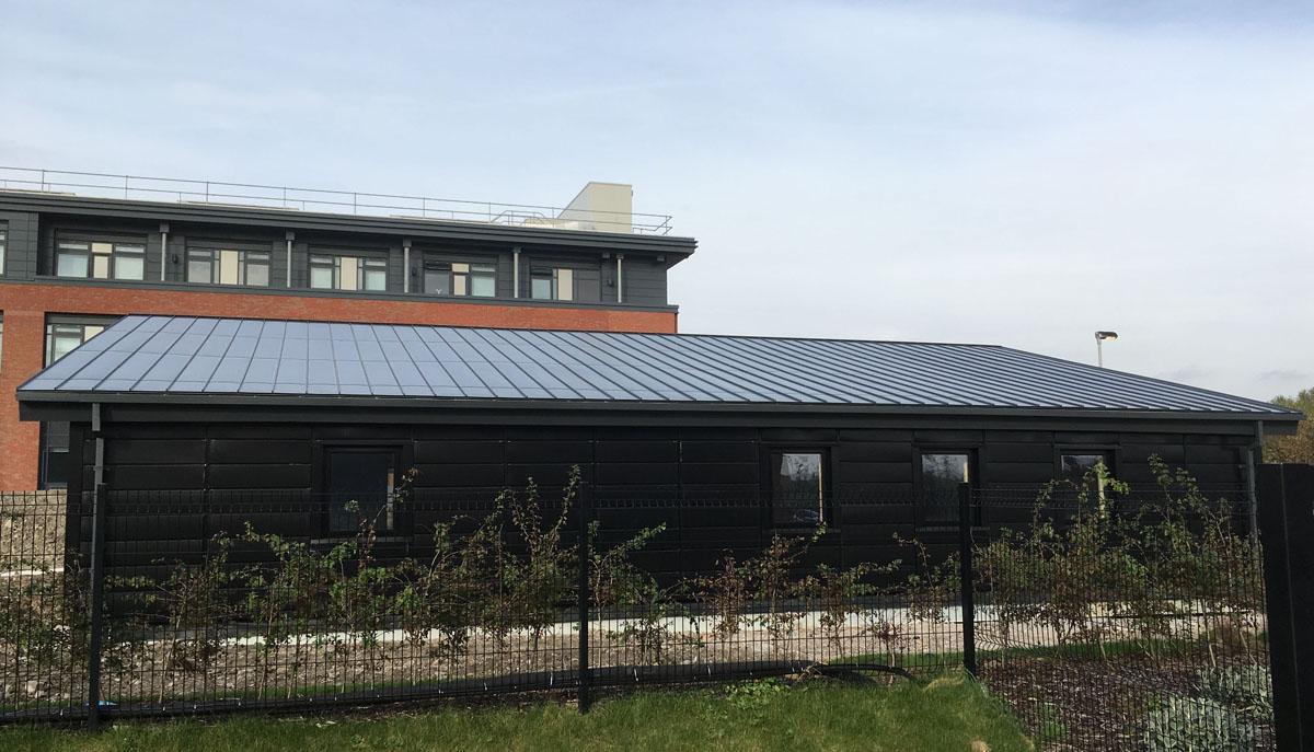 BIPVco install at Active Classroom, Swansea
