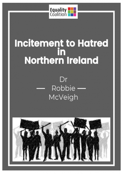 Cover of the Incitement to Hatred in NI report