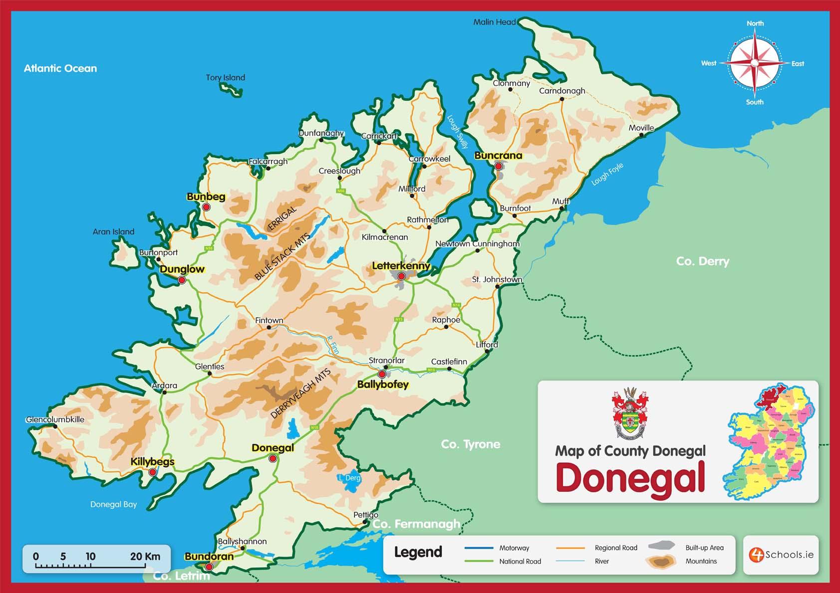 Donegal County Map