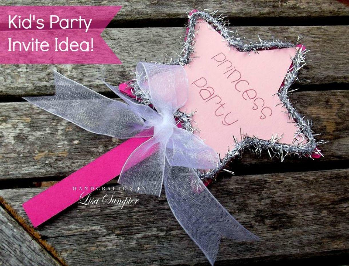 Princess Wand Kids Party Invite Idea
