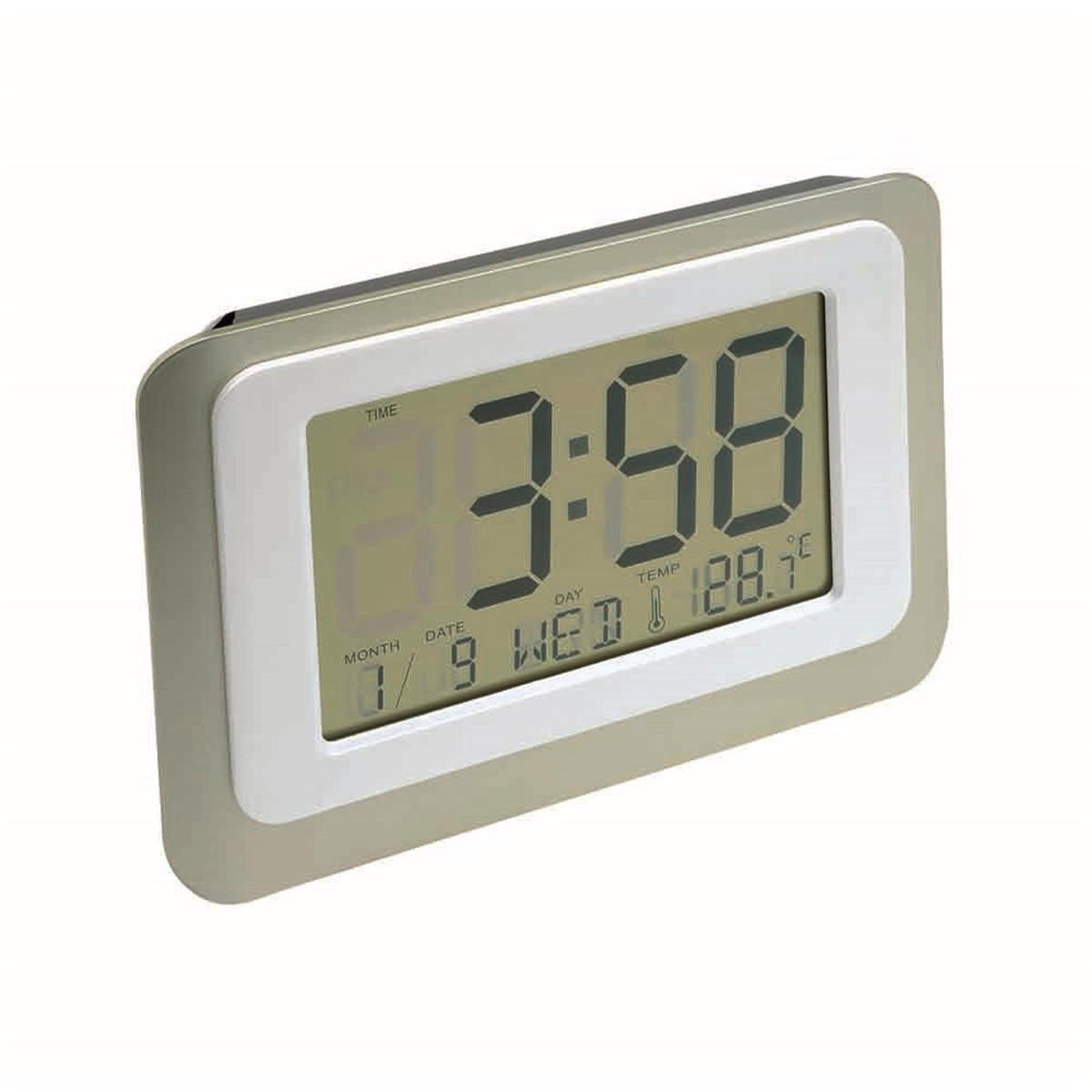 Digital Lcd Clock 12 24 Hour Switch With Thermometer And