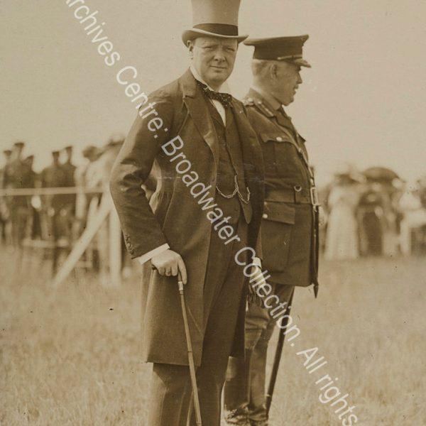 Full length photograph of WSC [Secretary of State for War]
