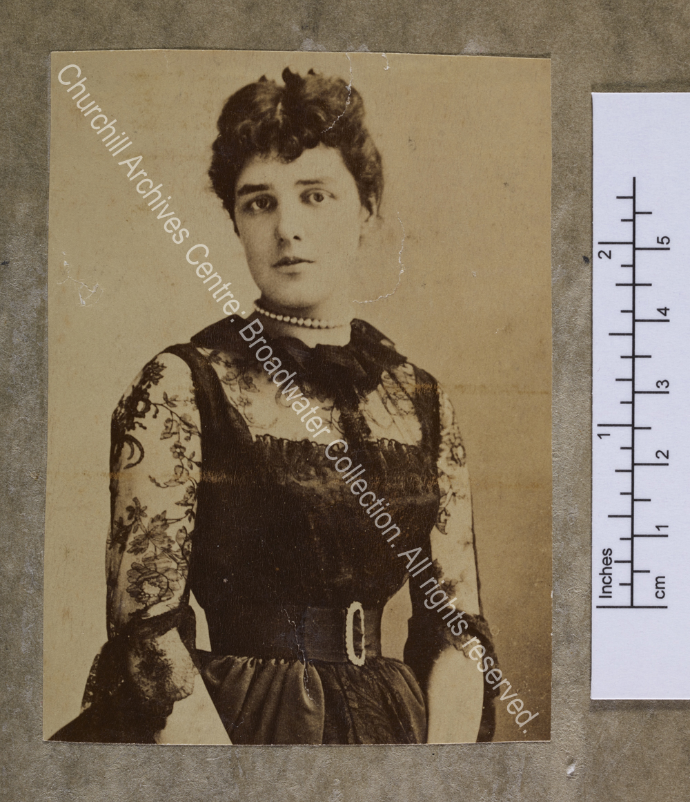 Half-length photograph of Lady Randolph [earlier Jennie Jerome]