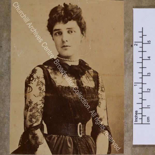 Half-length photograph of Lady Randolph [earlier Jennie Jerome]