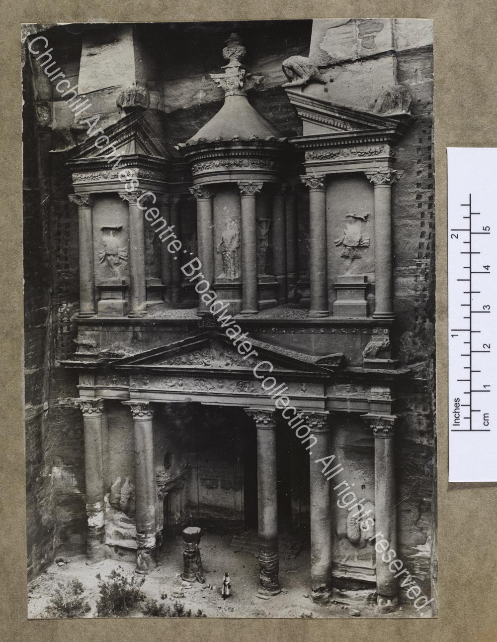 """Photograph of the temple of Al Khazneh (""""The Treasury"""") at Petra [Jordan]"""
