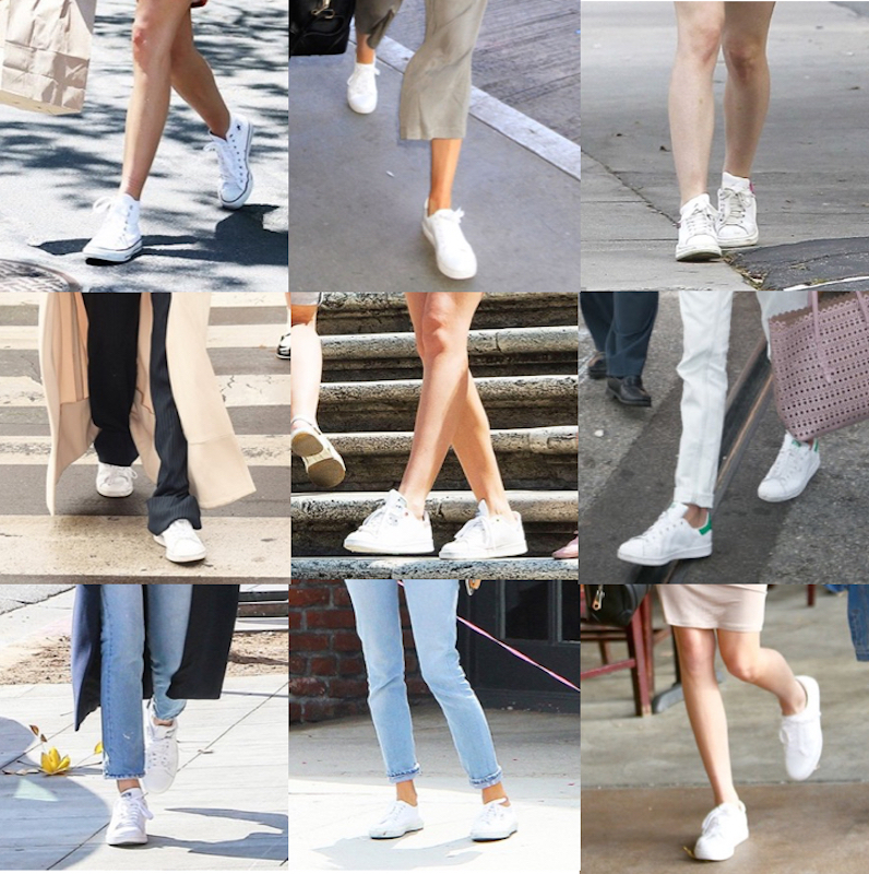 donne che portano sneakers