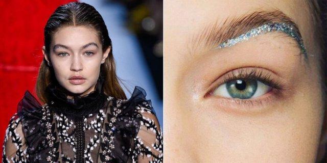 cliomakeup-ciglia-glitter-prodotti-mascara-look-sfilata-gigi-hadid-sopracciglia-6