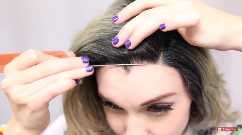 come mettere la parrucca