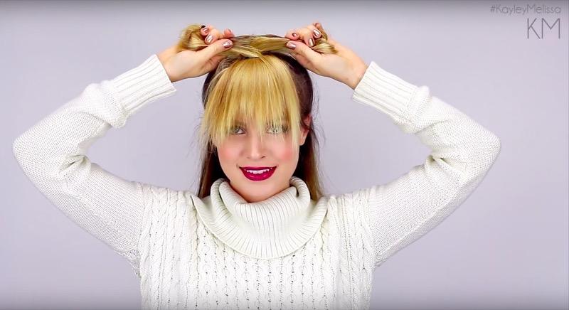 Frangia lunga capelli ricci