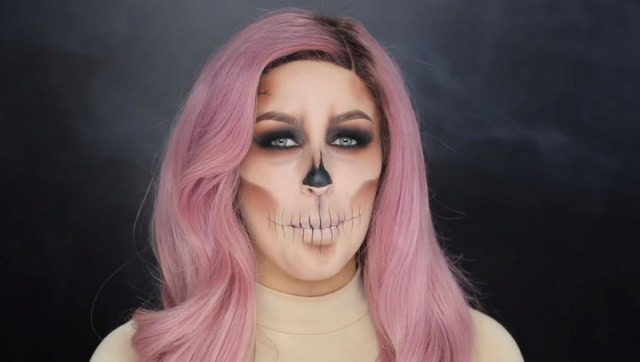 ClioMakeUp-trucchi-halloween-tutorial-facili-veloci-teschio1
