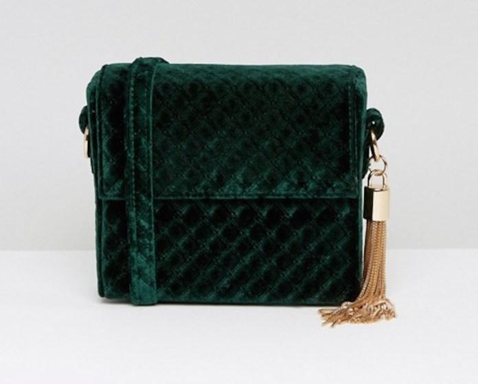 ClioMakeUp-velluto-scarpe-vestiti-abiti-gonna-zaino-2016-tracolla-verde