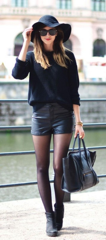ClioMakeUp-look-total-black-cintura-cappello