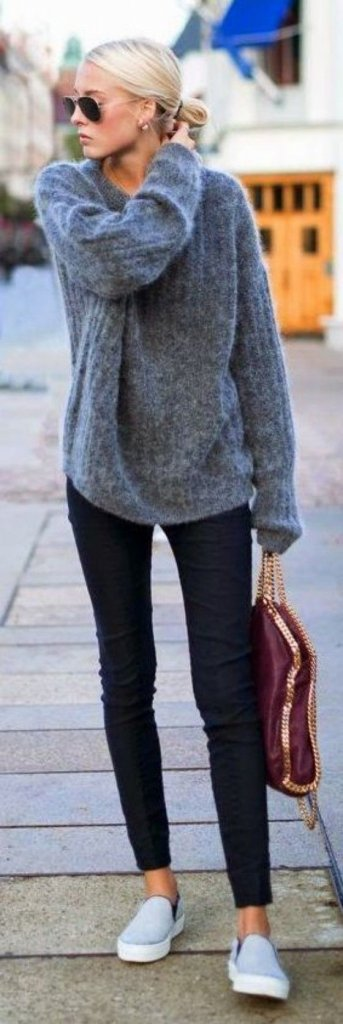 new concept e7b23 35b55 Come abbinare il maglione oversize senza sembrare goffe