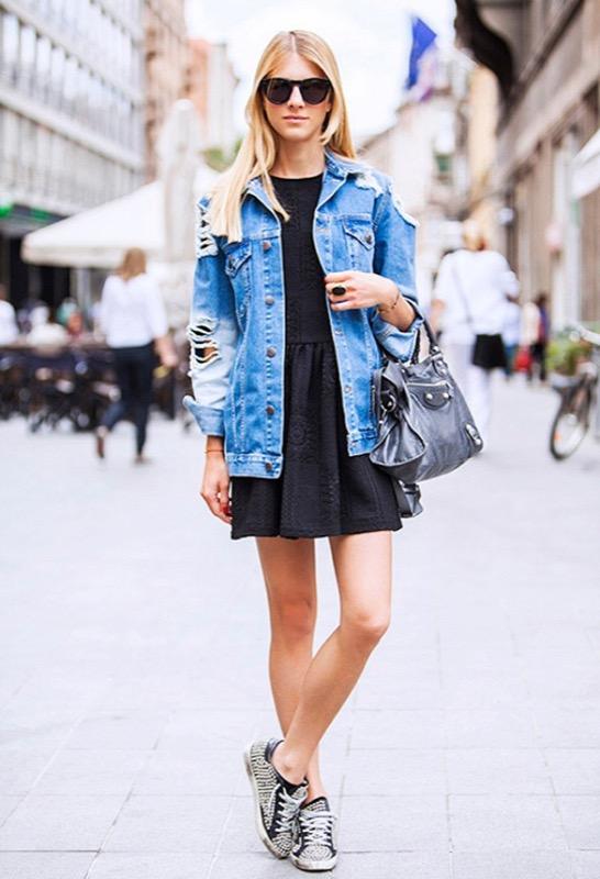 Giacca jeans e pelliccia