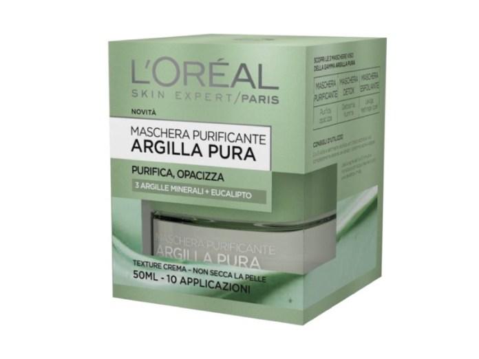 ClioMakeUp-maschere-argilla-pura-loreal-opinioni-recensione-verde-purificante