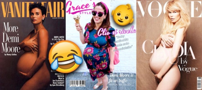ClioMakeUp-copertina-cover-star-celebrity-vip-incinta-gravidanza-pancione-nuda-clio-1